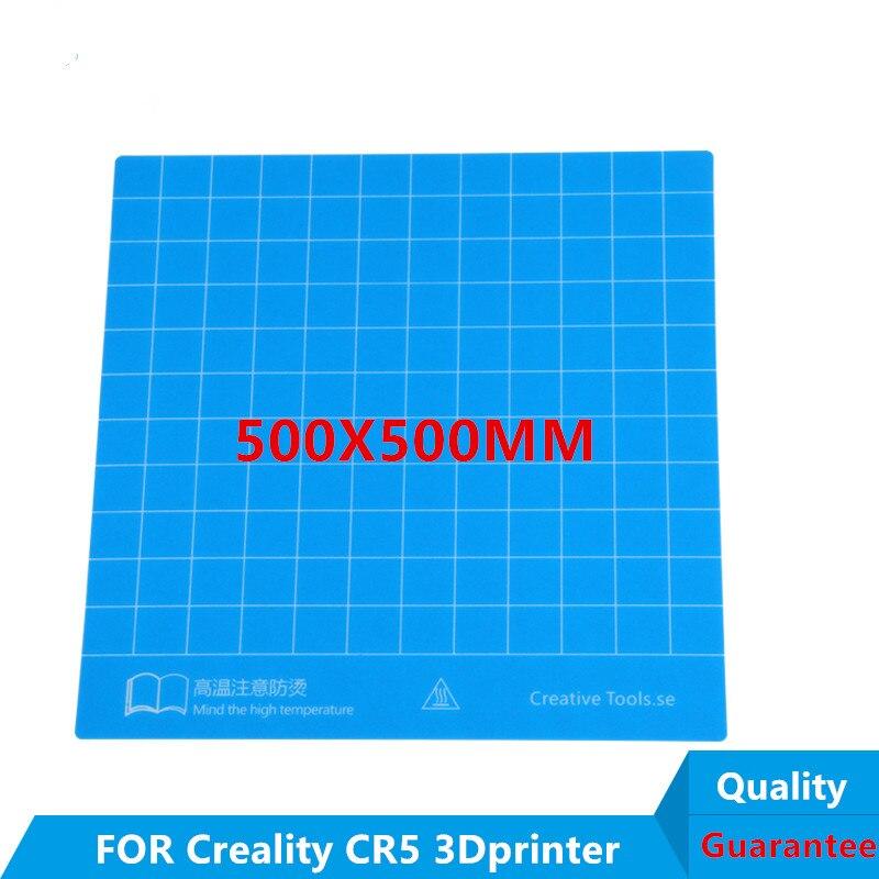 2 قطع * 500X500 ملليمتر 3D الأزرق طابعة ساخنة السرير بناء لوحة ملصق الشريط ل Creality CR 5 الشريط لاصق بناء ملصقا