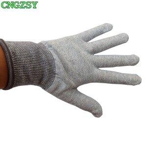 Image 5 - 5 пар износостойких нейлоновых перчаток из углеродного волокна для автомобиля, обертывание, Тонировка окон, вспомогательные инструменты, вязаные перчатки 5D08