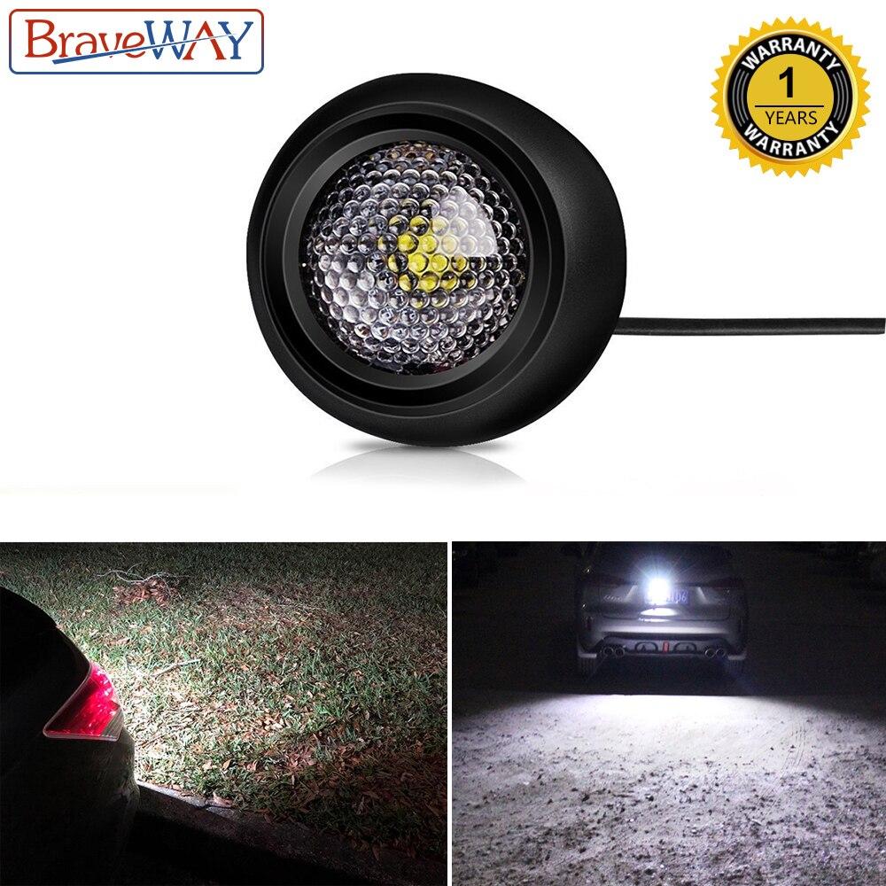BraveWay светодиодный внешний светильник заднего хода для автомобиля SUV ATV внедорожный вспомогательный светодиодный светильник 12 В автомобильная лампа 1156 T10 светодиодный W5W