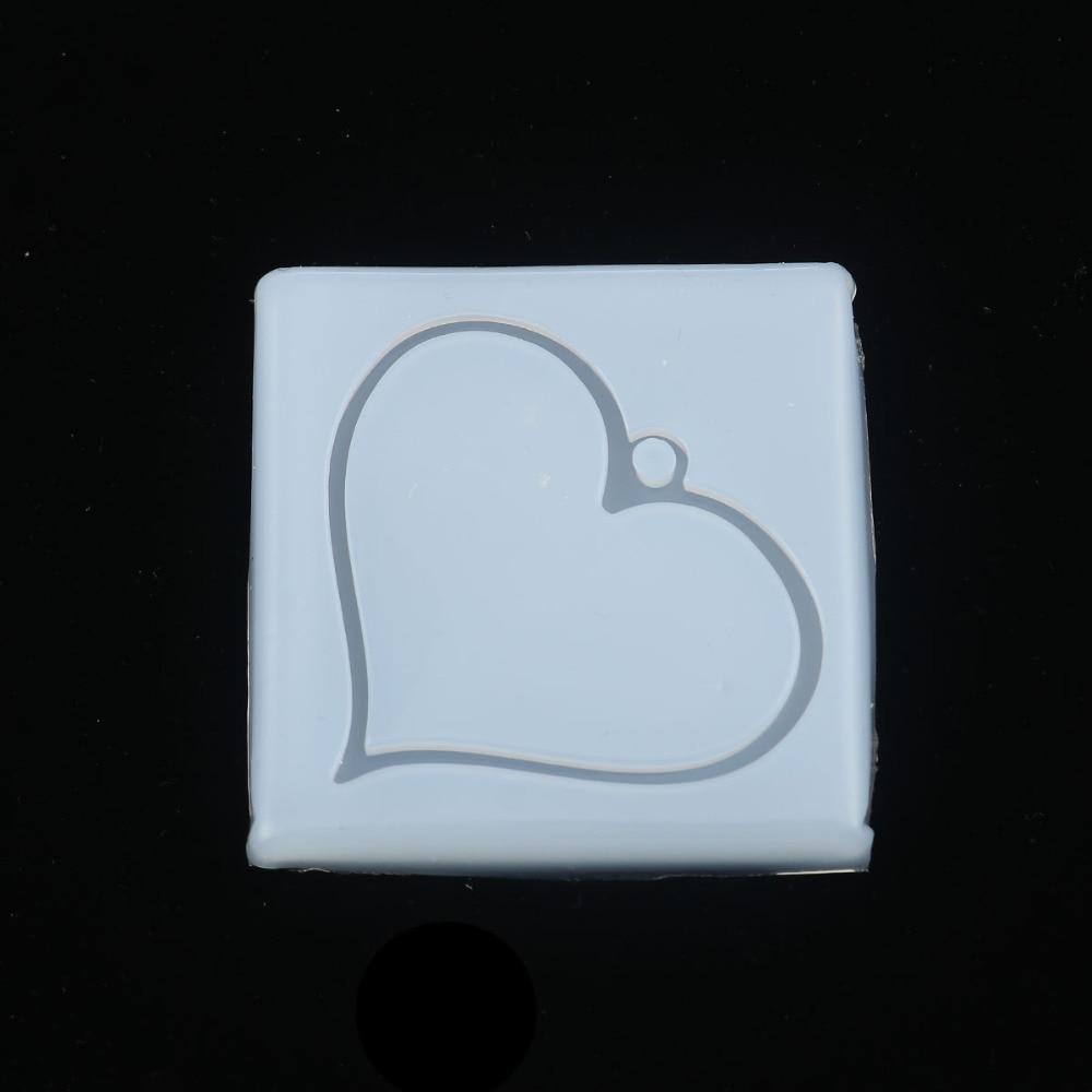 """Doreen box DIY Molde de resina de silicona para hacer joyería, herramientas de joyería de corazón cuadrado blanco 65mm(2 4/8 """") x 65mm(2 4/8""""), 1 pieza"""