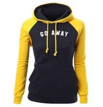 Hoody For Women 2019 Autumn Winter Slim Sweatshirt Brand Clothing Go Away Letter Print Fashion Hoodies Tracksuit For Lady Kpop