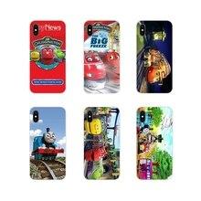 Chuggington Enfants Train Pour Apple iPhone X XR XS MAX 4 4S 5 5S 5C SE 6 6 S 7 8 Plus ipod touch 5 6 Étuis De Téléphone En Silicone Couvre