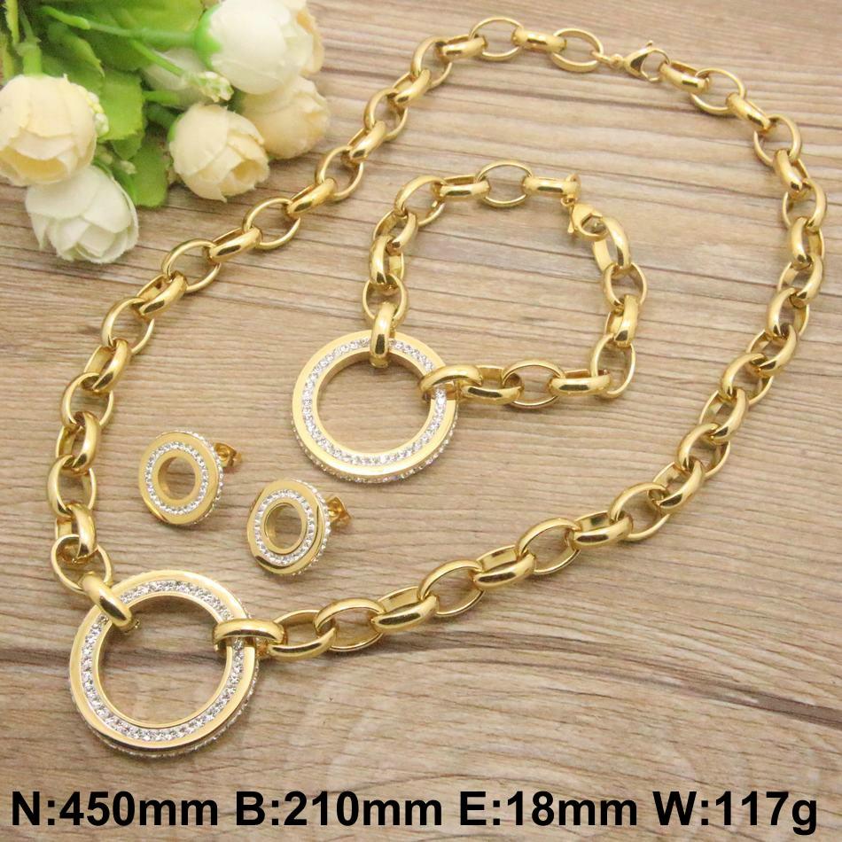 Набор украшений из нержавеющей стали, новый высококачественный браслет и серьги-гвоздики, модный подарок для женщин на вечеринку