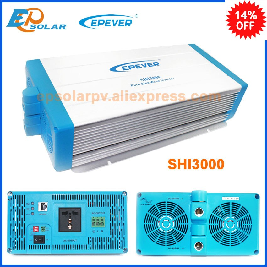 Inversor SHI3000-22 salida de CA SHI-3000-42 onda sinusoidal pura 220v 230v 3000w 3 kW inversor solar fuera de red EPsolar envío gratis
