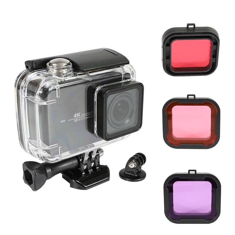 防水ケースのための李 4 18K アクションカメラ Xiaoyi 4K + 保護シェル Lite 4 18K ダイビング収納ボックス w/フィルターキットアクセサリー