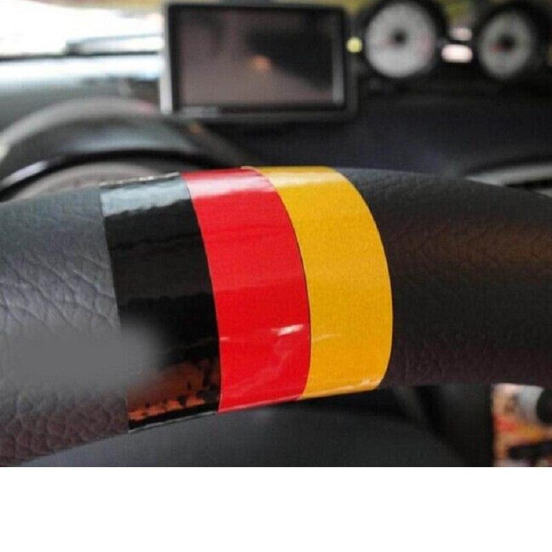 Auto-Styling lenkrad aufkleber Deutsch flagge für Volkswagen skoda octavia benz passat b5 vw golf 4 5 6 7 tiguan polo Jetta