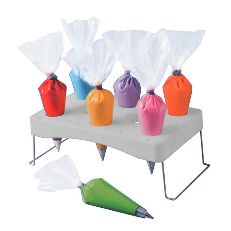 Bolsa de repostería plegable para manga pastelera, soporte para bolsa de pastelería, soporte para mesa de trabajo en crema, herramienta de decoración de pasteles, almacenamiento para repostería en crema
