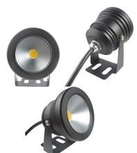 1 pièces boîtier de couleur noire extérieure 10 W LED sous-marine piscine de lavage dinondation lampe de tache de lumière imperméable 12 V en gros