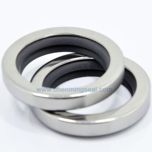 35*65*10mm de labio doble juntas con aceite PTFE con SS304 vivienda para compresores/bombas/mezcladores/sopladores/cajas de engranajes/extrusoras/Robótica