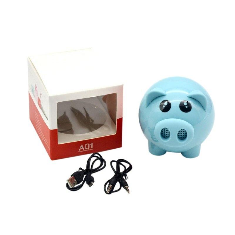 Altavoz portátil lindo cerdo Bluetooth altavoces inalámbricos compatible con Radio FM y tarjeta TF