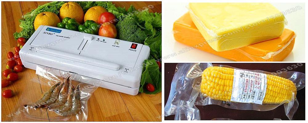 Free DHL/FEDEX Shipping! New 220V/110V SINBO DZ-280 Portable Household Food Vacuum Sealer Plastic Bag Sealing Packing Machine