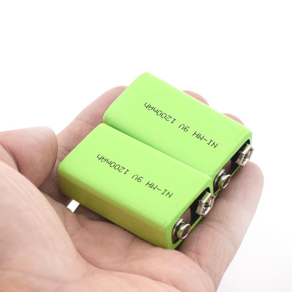 1/2/4 pièces haute qualité 9 V 1200 MAh Rechargeable Ni-MH batterie pour Interphone détecteur de fumée voiture jouets 9 V Nimh Batteries remplacer
