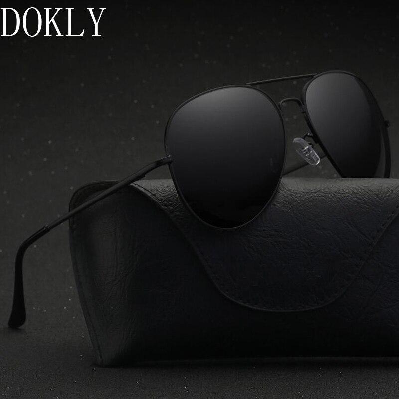 Dokly brand 2017 HD Polarized black lens black sunglasses Men Polarized Sunglasses Oculos Driving Luxury Design no bag