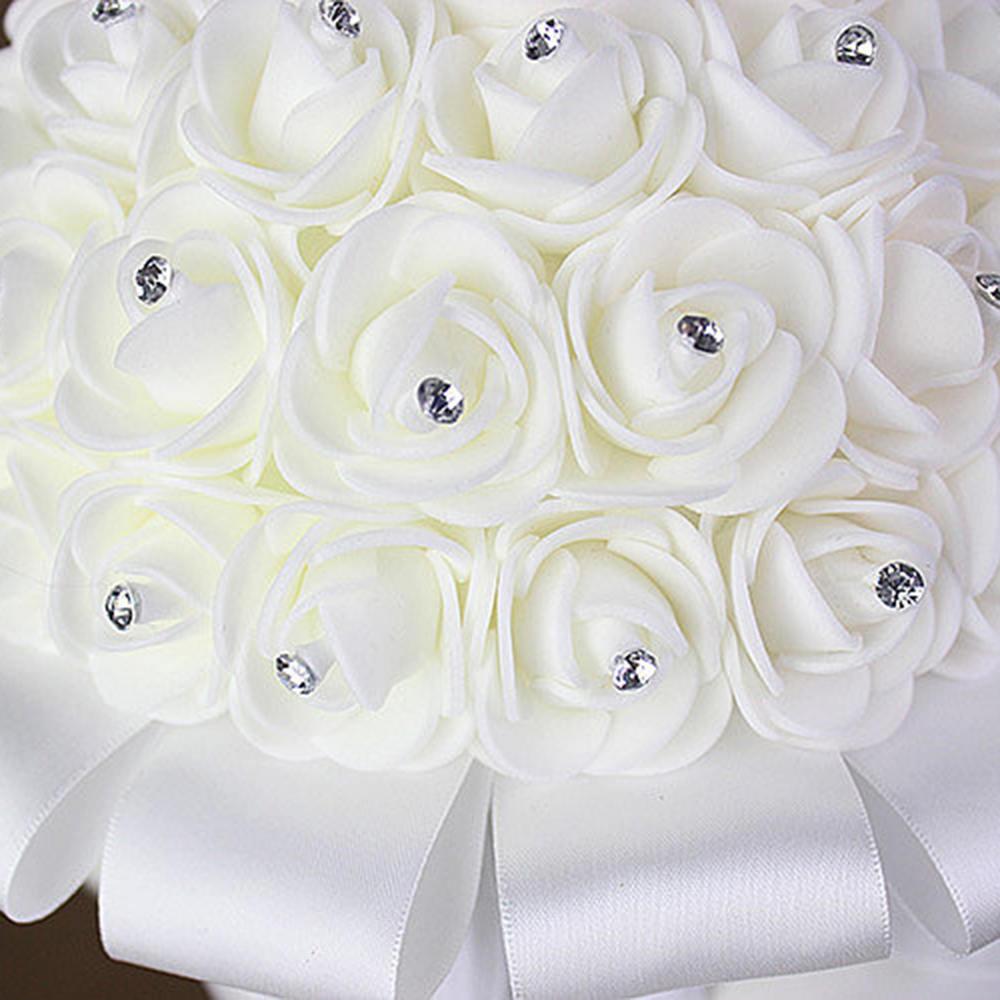 Umjetni vjenčani buketi s ručno izrađenim cvijetom ruže od - Vjenčanje pribor - Foto 5
