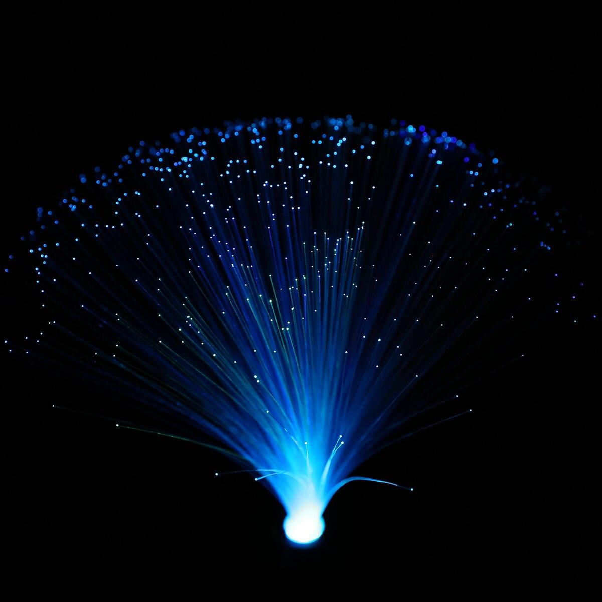"""1 Uds. Lámpara de fibra óptica LED colorida cambiante de 12,6 """"fuente de luz nocturna soporte para habitación de casa decoración de ensueño"""