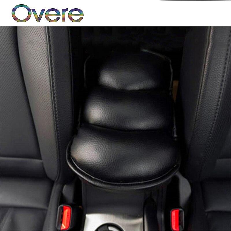 Overe coche Reposabrazos de coche cubierta brazo resto asiento caja suave de la PU Mat para BMW E60 E36 E46 E90 E39 E30 F30 F10 F20 X5 E53 E70 E87 E34 E92 M