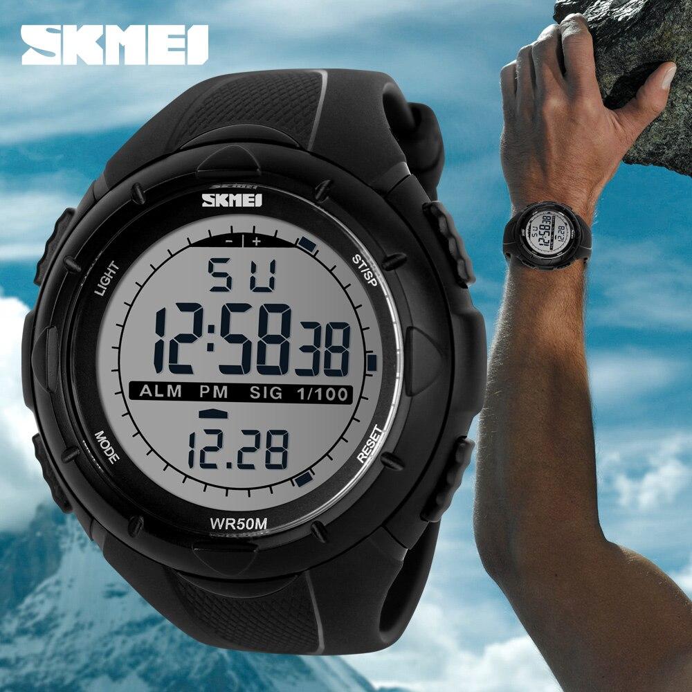 Caliente azul del reloj SKMEI marca de lujo para hombre deportes relojes de buceo 50m reloj LED Digital militar hombres chico de moda Casual electrónica Relojes