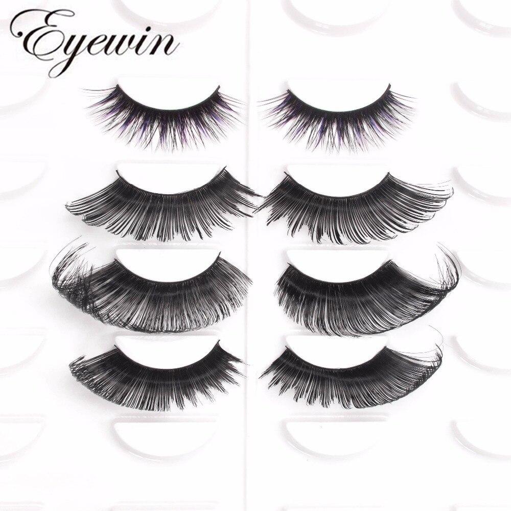 Cílios postiços Tira Eyewin exagerar falso lash para drag queen Dramática Arrastar lash mink lashes Para Profissionais de maquiagem 3d