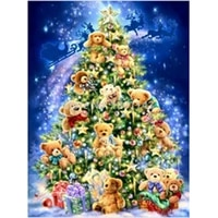 home decoration 3d diamond embroidery christmas tree bear diamond painting christmas gift rhinestones crafts set embroidery