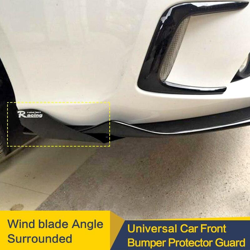 Universal Auto Spoiler Canards Fit Front Lip Splitter Fin Luft Messer Auto Körper Kit Wind Klinge Winkel Umgeben Wind messer