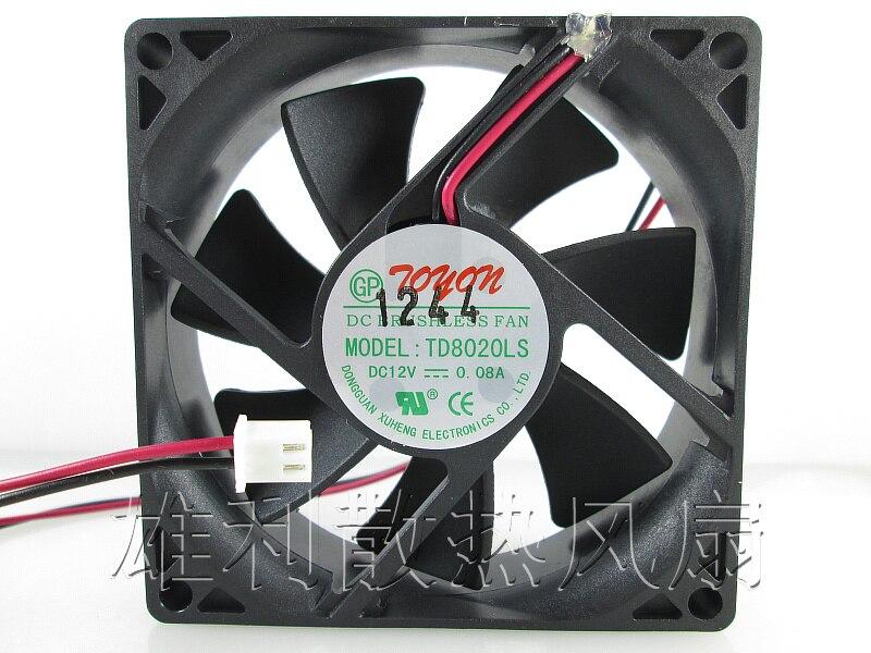 Novo original 12 V 0.08A 8 CM TD8020LS fã dispensador de água 80*80*20 MM ventilador silencioso