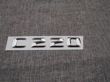 ABS Plastic Car Trunk Rear Letters Badge Emblem Decal Sticker for Mercedes Benz C Class C220