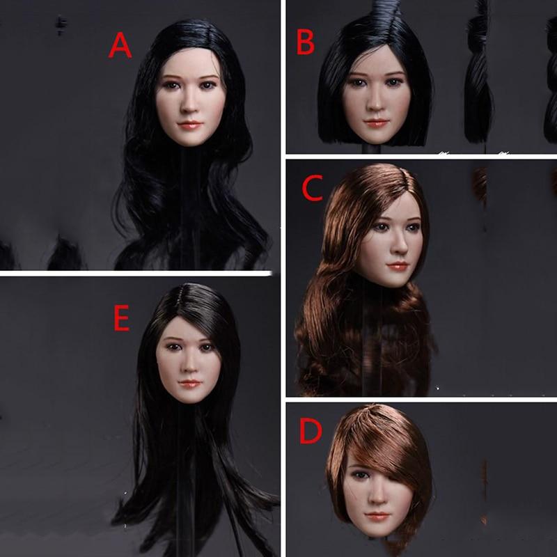 Cinco estilos 1/6 cabeza de mujer esculpir para cuerpos femeninos de 12 pulgadas similares a Liu Yifei y Jing Tian