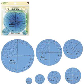 Plantilla Circular de la tabla de dibujo del parche de trébol de enero para herramientas de mano 1 juego = 7 piezas 57-894