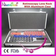 Lentille ophtalmique en optométrie   Retinoscopie optique, lentille de panneau à retournement emballée par, livraison gratuite