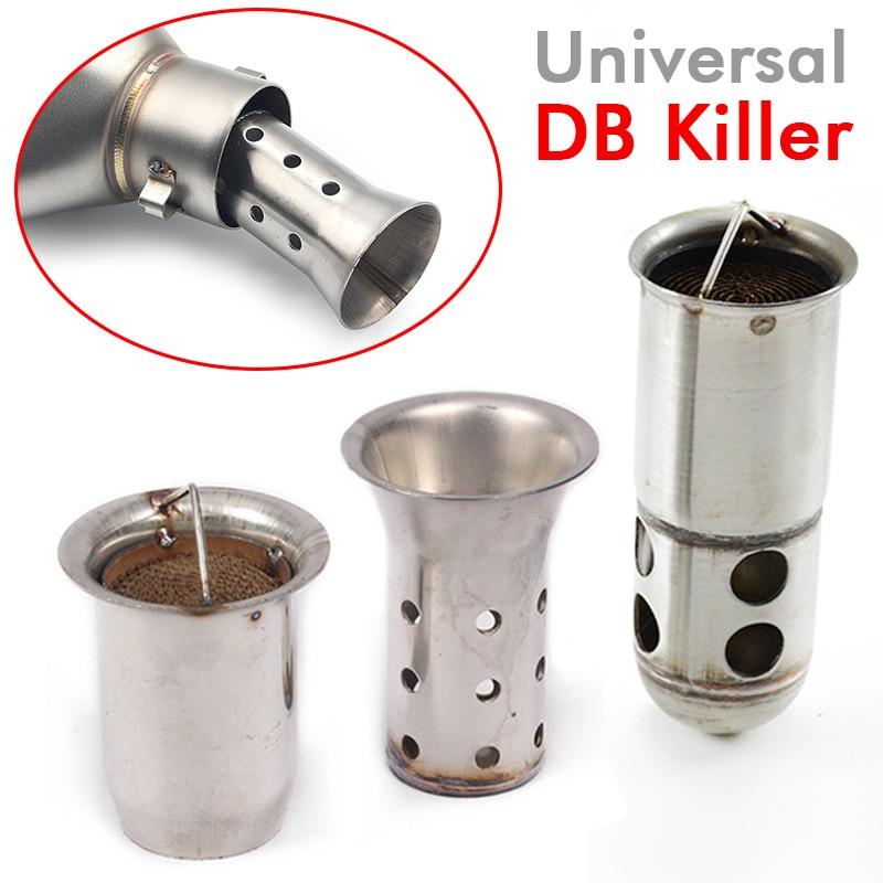 51mm/60mm universal motocicleta escape silenciador tubo moto com db assassino silenciador catalisador ruído eliminador de som