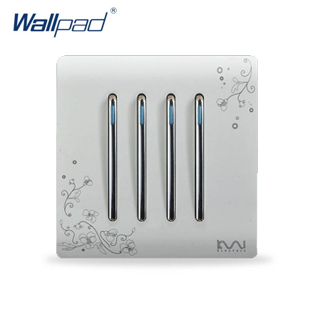 2019 4 Gang 1 Way interruptor de luz gran oferta Panel de interruptor de pared de lujo C30 serie 110 ~ 250V