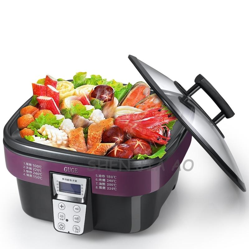 Cocina eléctrica multifuncional para el hogar AD-G909 Cocina eléctrica antiadherente 5L wok electrónico multiusos 220V 1400W