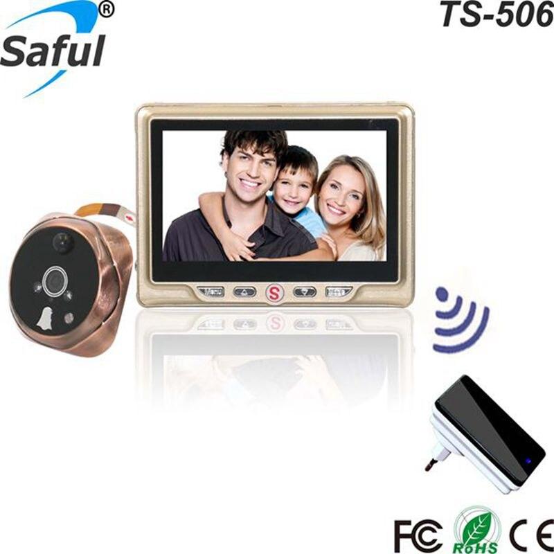 Saful Smart Home Digital Wireless Tür Video-auge Kamera mit Motion Erkennen Video Aufnahme Tür Guckloch Viewer Türklingel Monitor