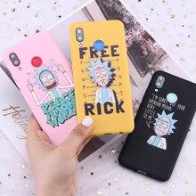 Pour Samsung S8 S9 S10 S10e S20 Plus Note 8 9 10 A7 A8 Rick et Morty mèmes Fan dessin animé bonbons Silicone étui de téléphone Capa Fundas