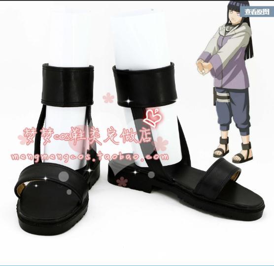 Anime NARUTO Boy Girl Cos Shoes Hyuga Hinata Cosplay Footwear Halloween Adult Cosplay Accessories