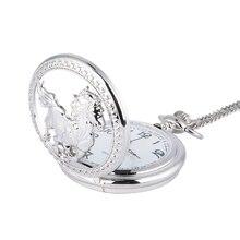 Mode argent cheval creux Quartz poche montre chaîne pendentif collier pour femmes hommes cadeaux TT @ 88
