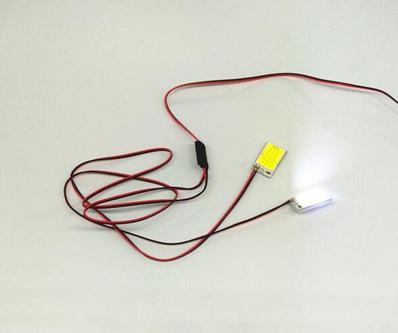 Estroboscópico intermitente LED doble Flash s impermeable DIY lámpara 12V fuente de alimentación de navegación nocturna RC coche/barco/avión