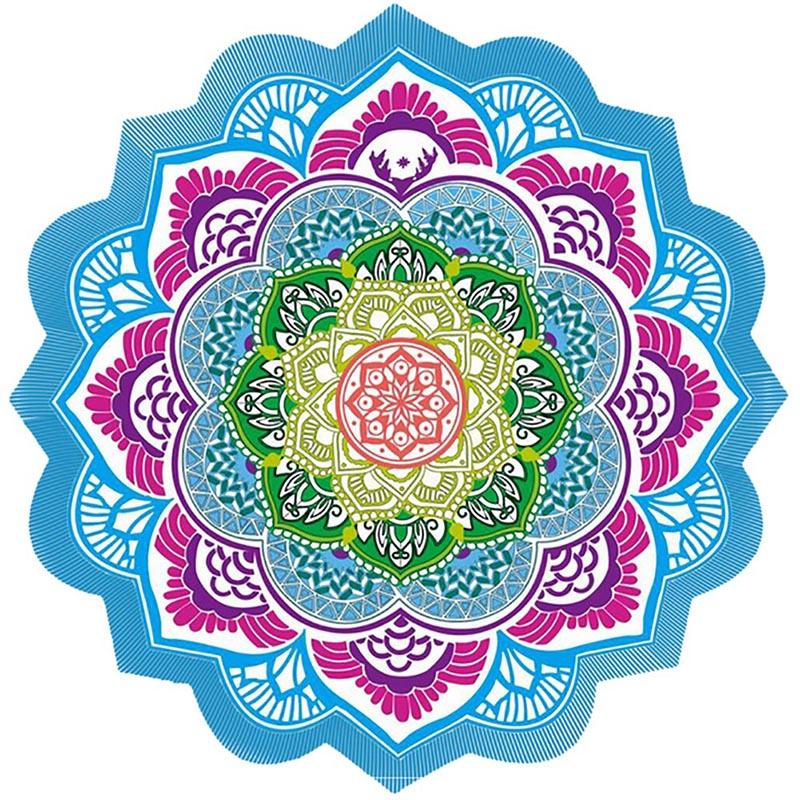 Mandala toalha redonda tapeçaria praia jogar toalha tapete hippie indiano piquenique cobertor