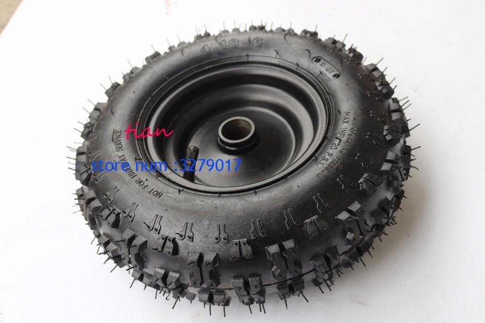 4.10-6 tyre and rim ATV Quad Go Kart 47cc 49cc Chunky 4.10-4 Tire inner tube Fit All Models ATV Quad spare parts