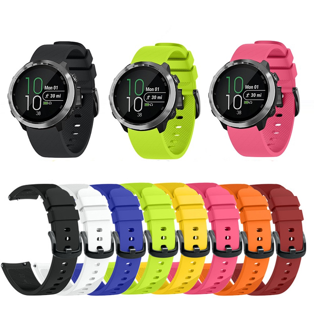 Silicone Watch wrist Strap Wristband For Garmin Vivoactive 3 Forerunner 645 Samsung Gear Sport S4 Replacement Watch Accessories