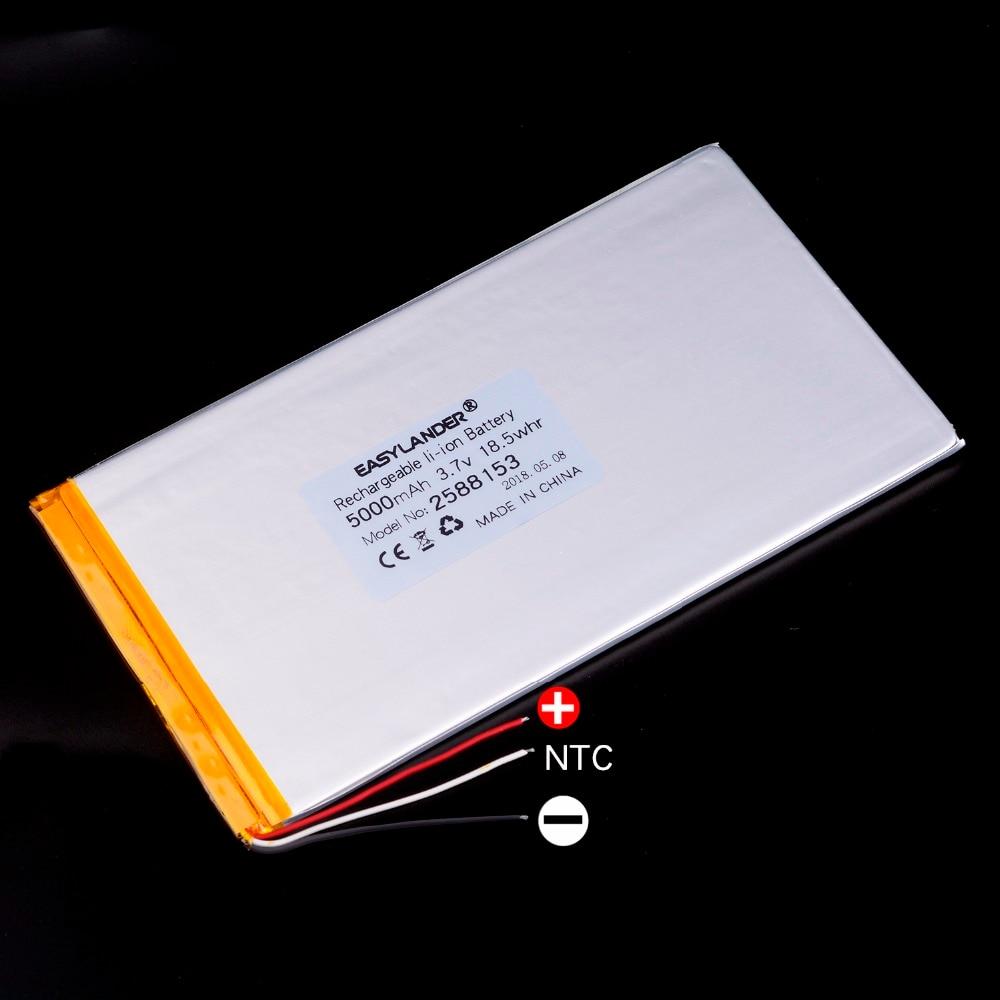 3 cables 2588153 5000mAh 3,7 V batería de polímero de litio Li-ion celular tablet ordenador panel integrado P89mini 2588155 ifive mini3