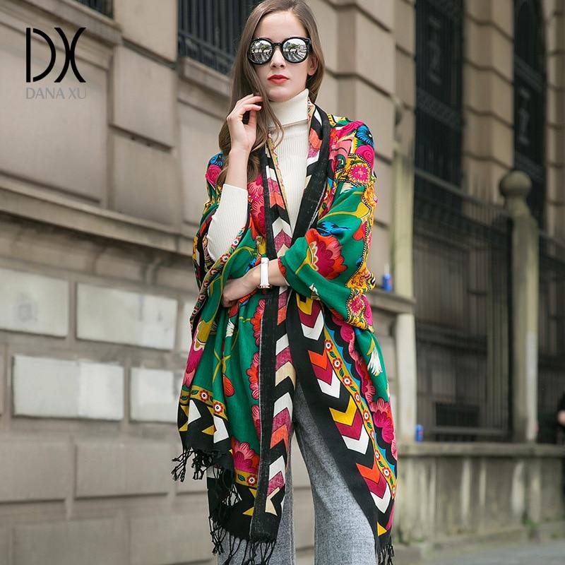 2019 Luxury Brand Large Pashmina Fashion Scarves and Shawls Warm Scarf Women Muslim Hijab Cashmere Poncho Cape Wool Shawl Wrap