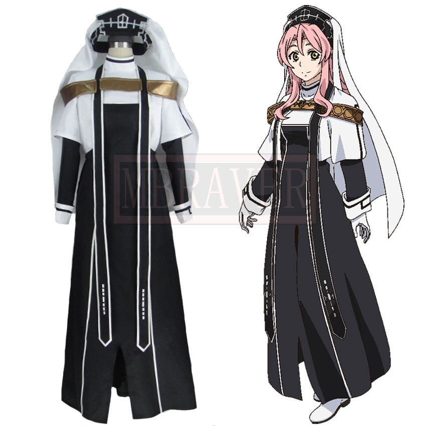 Record of Grancrest War Priscilla Cosplay Halloween Costumes Custom Made Free Shipping