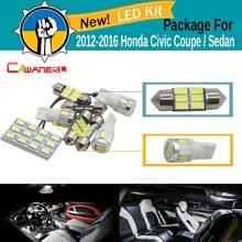 Cawanerl Car Map Dome Trunk Light 5630 SMD LED Bulb Interior LED Kit Package White For Honda Civic Coupe Sedan 2012-2016