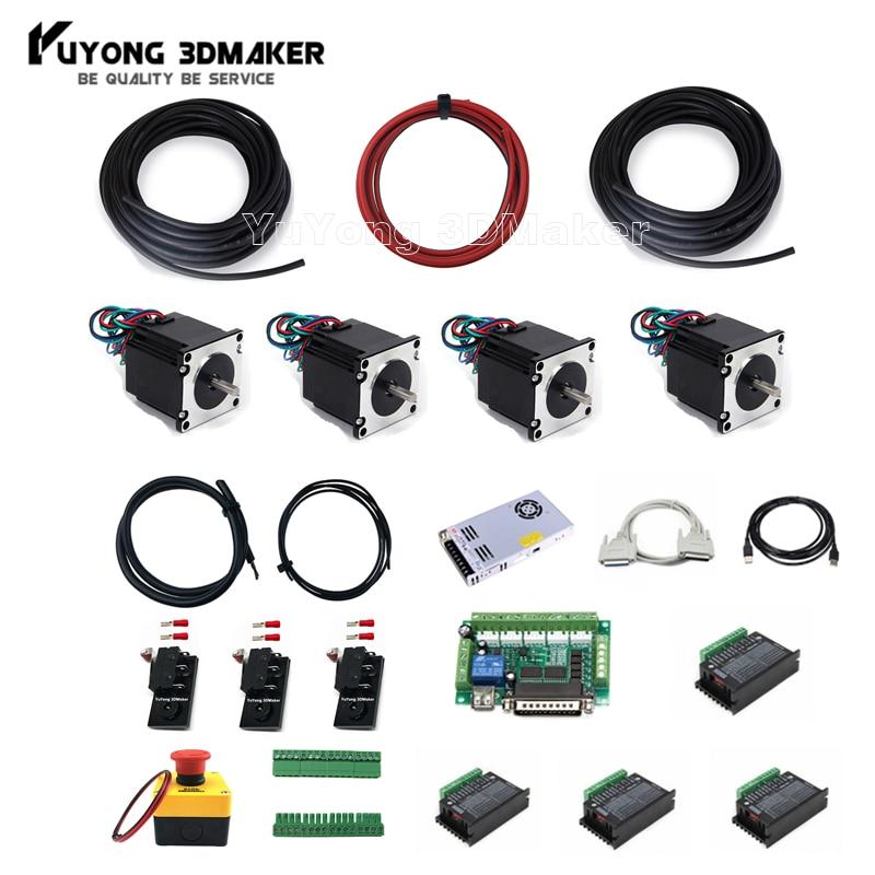 ماخ 3 الإلكترونية تحكم كومبو مع 4 قطعة نيما السائر المحركات ل Workbee ثور CNC وغيرها من CNC راوتر آلة طحن