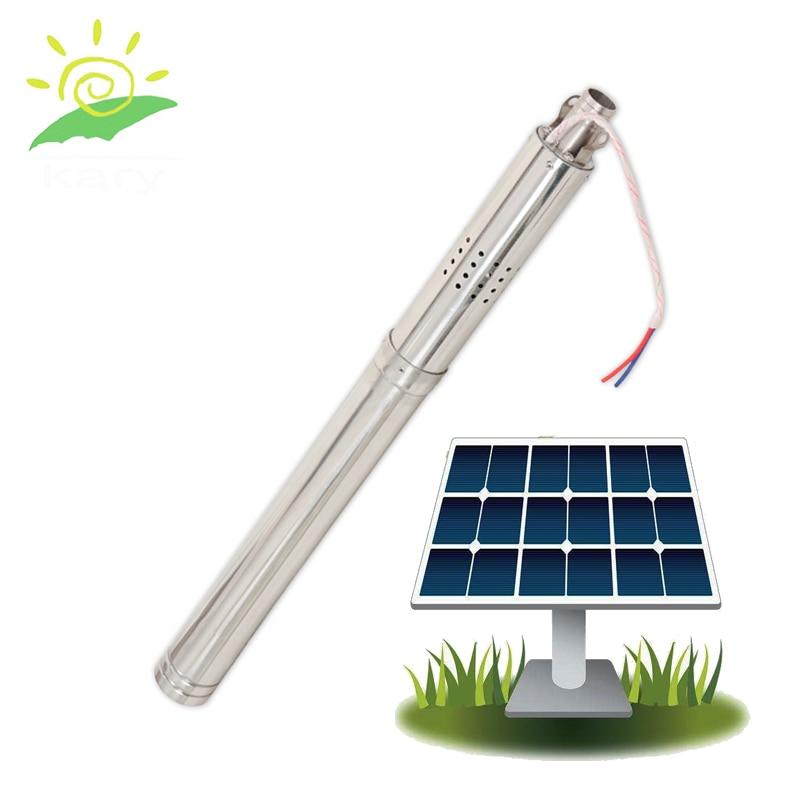 Kit de bomba de estanque solar de 2 pulgadas, bomba de agua solar sin escobillas, bomba de agua pequeña de alta temperatura, bomba de agua solar sumergida