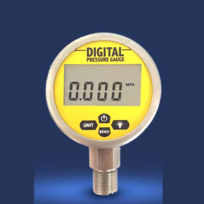 مقياس ضغط كهربائي رقمي ، 80 مللي متر ، 0 إلى 0.16-60MPA(8700PSI) ، مقياس ضغط LED من الفولاذ المقاوم للصدأ ، دقة عالية