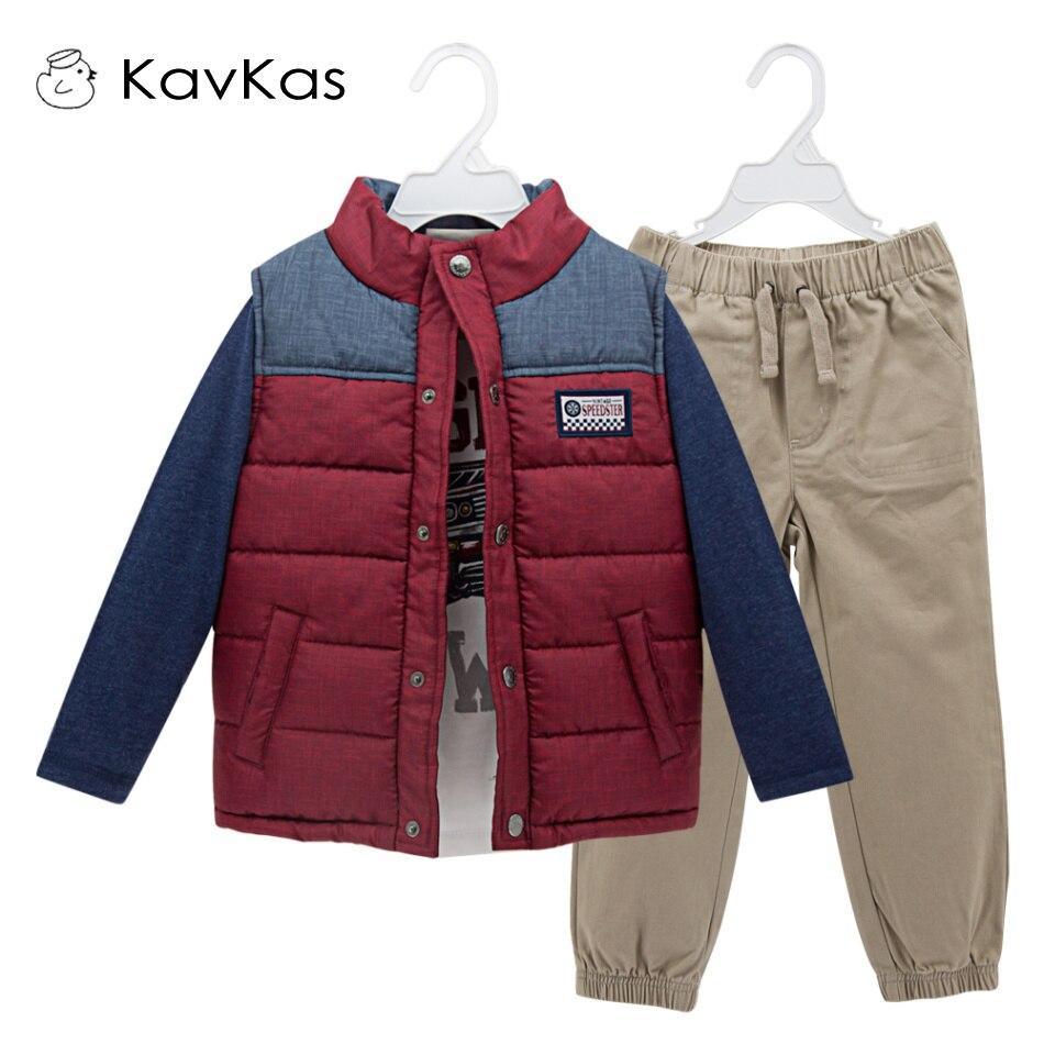 Kavkas ropa infantil para niños 3 unids/set de ropa de otoño para niños ropa de invierno para niños regalo de Navidad