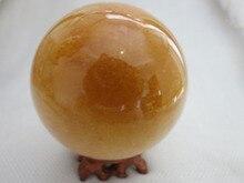 xd j00880 natural golde topaz quartz crystal ball +stand