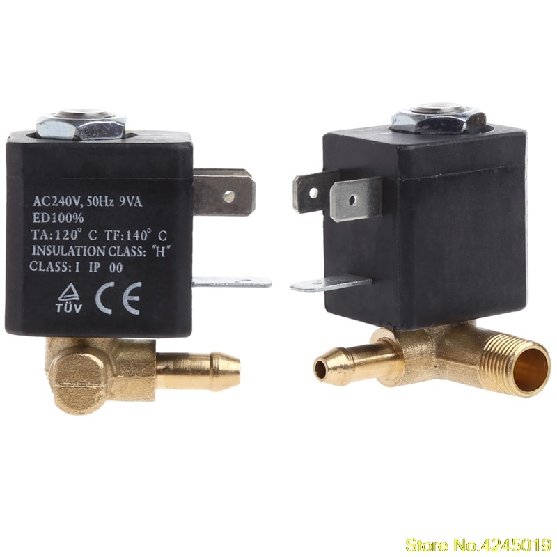 2019 High quality Cannula N/C AC 230V G1/8 Brass Steam Air Generator Water Solenoid Valve Coffee